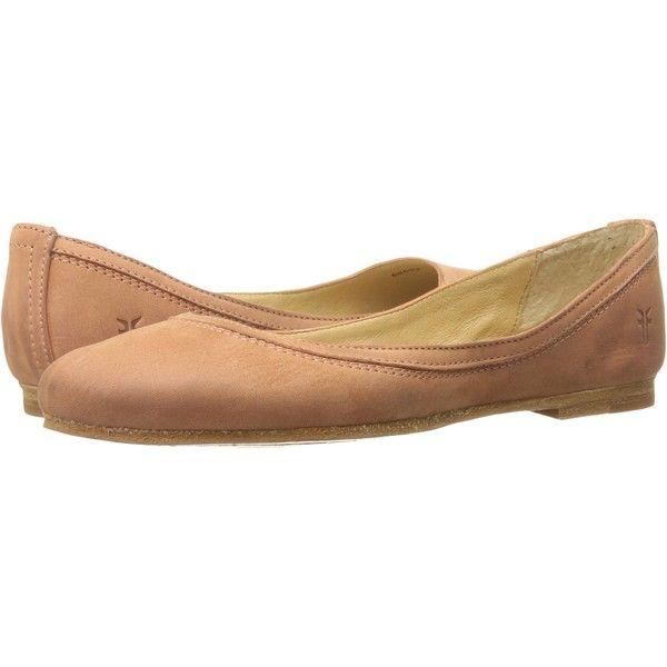 Frye Carson Ballet (Dusty Rose Soft Nubuck) Women's Flat Shoes ($95) ❤