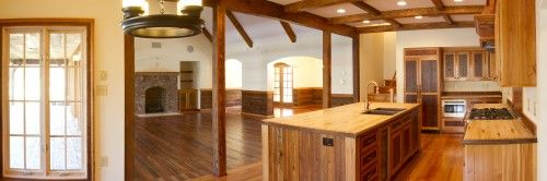 reclaimed bowling alley counter tops that still have the ...