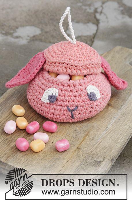 Gummy Bunny / DROPS Extra 0-1375 - Cesto con tapa para Pascua ...