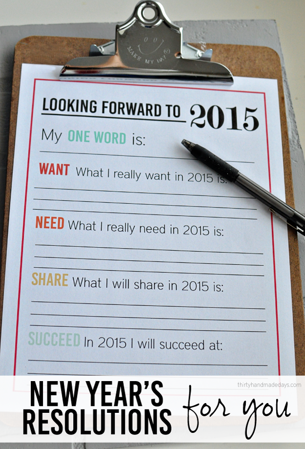 Updated Printable New Year S Resolutions For You Newyear New Years Activities New Years Resolution