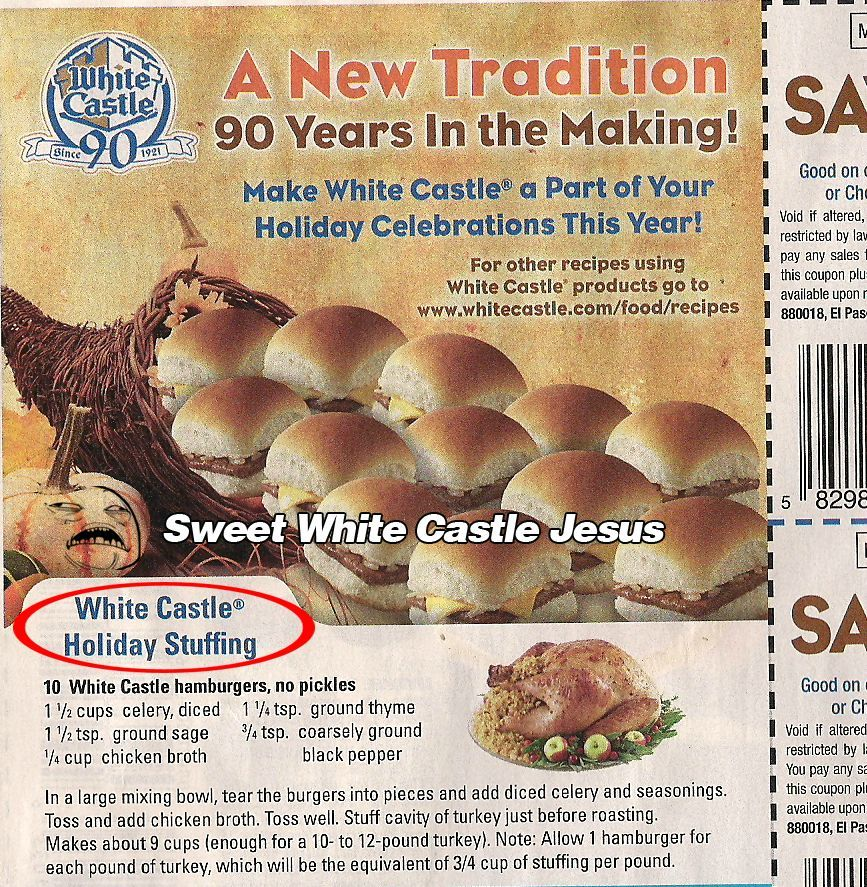 6c509a62ebc9d74d9ec230db48ad39ce white castle stuffing! i thought i'd try this once i'm requested