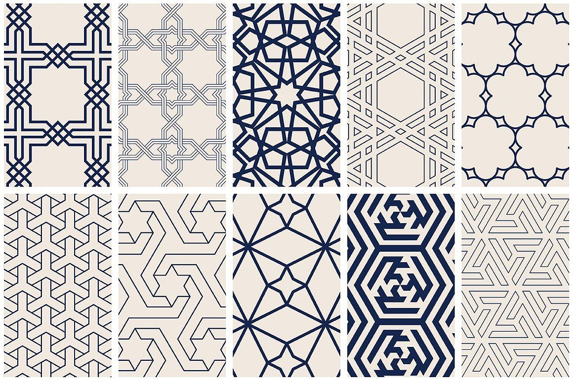 Islamic Art Vector Patterns by Youandigraphics on