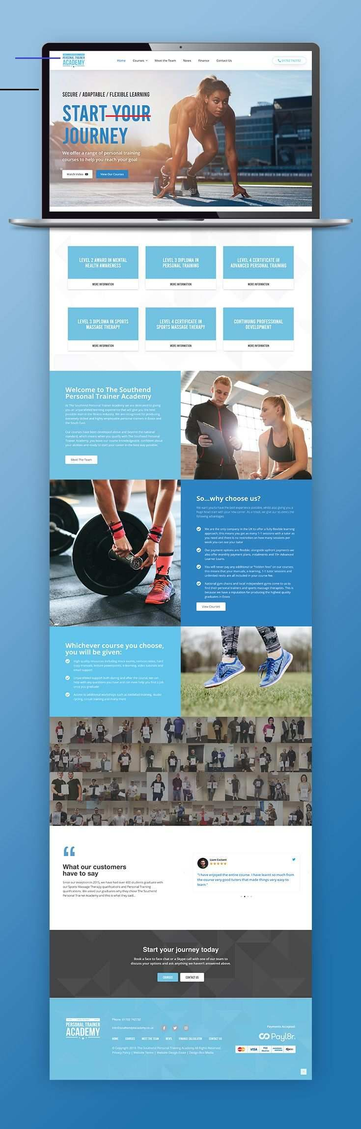 Southend PT Academy Web Design A website designed and developed for Southend Personal Training Acade...