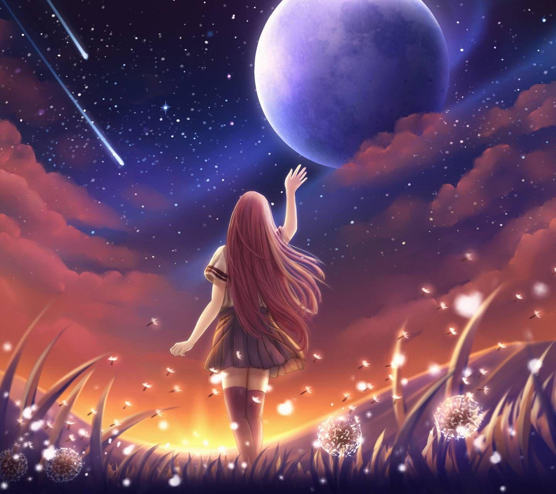Girl Alone Anime scenery, Anime artwork, Wallpaper