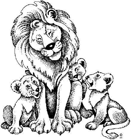 Coloriage Lions Et Les Lionceaux Il Coloriage Coloriage A