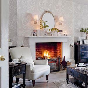 Josette White Dove Grey Damask Wallpaper Ideas For The House