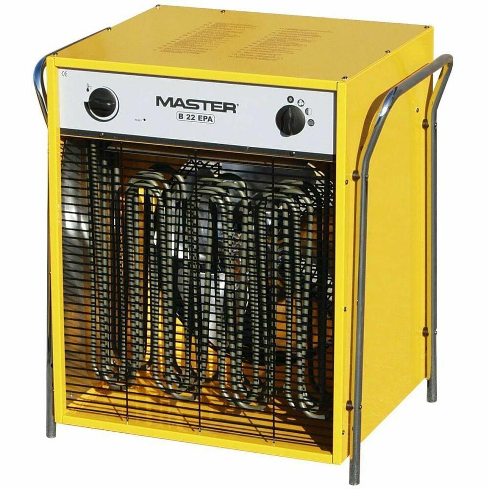 Master Radiateur Soufflant Electrique B22epb 2400 M H Generateur D Air Chaud Chauffage D Appoint Chauffage Radiateur Soufflant