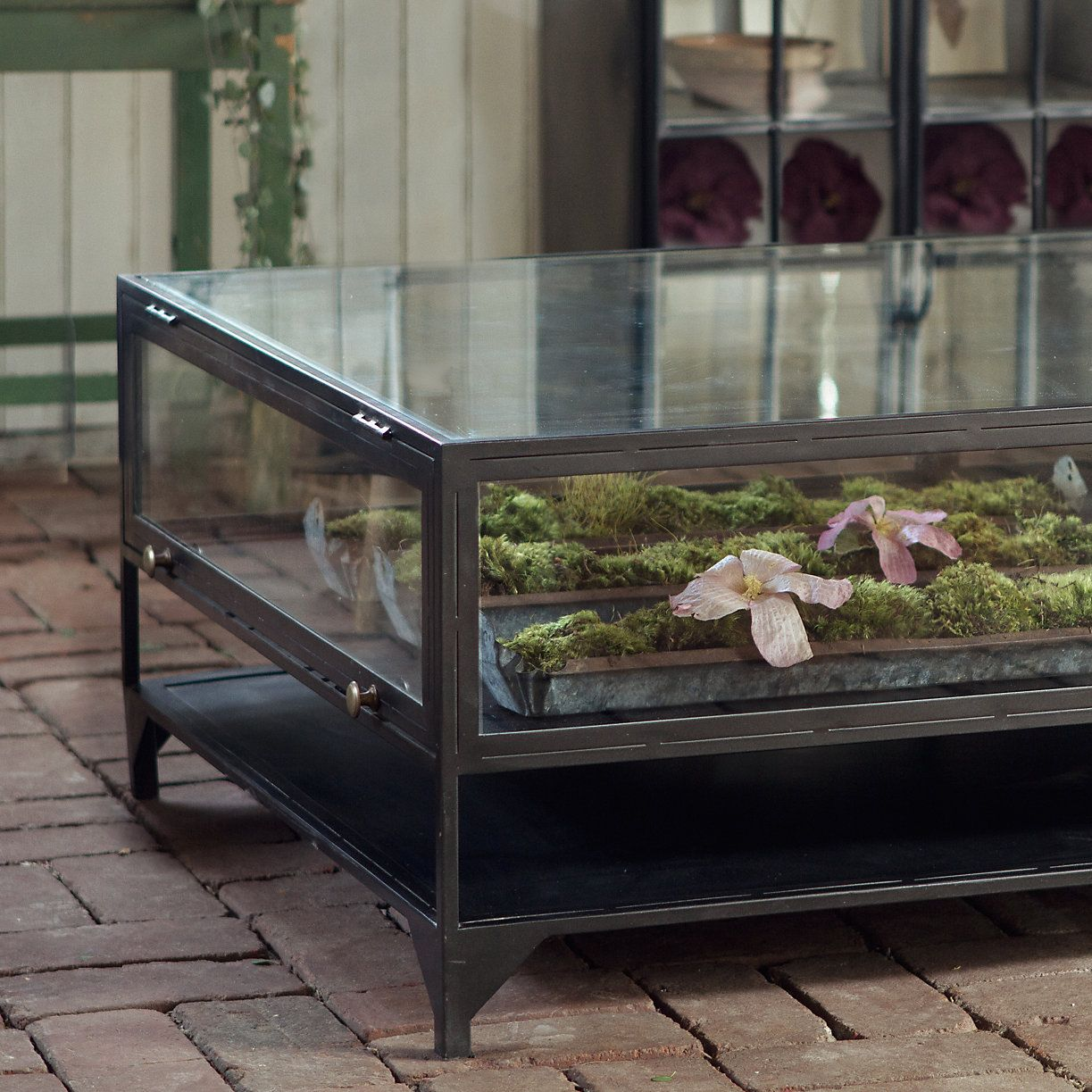 Curio Display Coffee Table Iron and Glass Tables Coffee and House