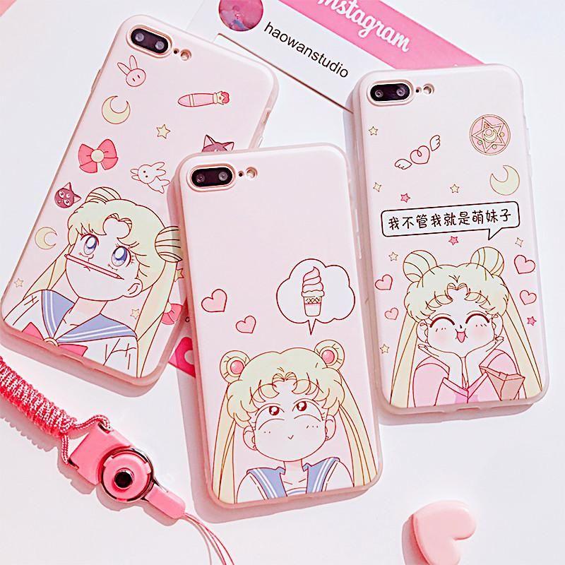 Sailor Moon Cute Phone Case for iphone 6/6s/6plus/7/7plus/8/8plus ...