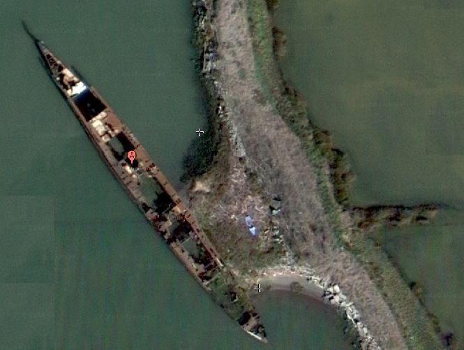 Wreck Of Uss Corry D 334 Googlemap 3810047n 122171487w