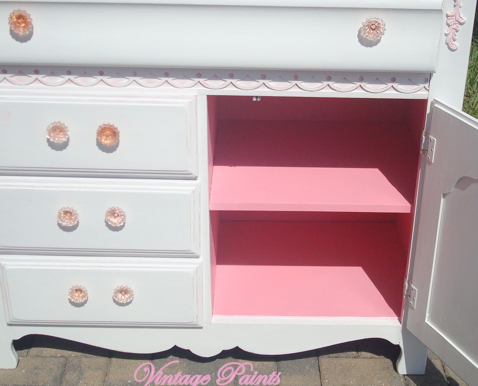 Pink And White Dresser Black Satin Wicker Chairs Pink White