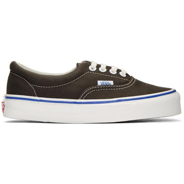 Vans Grey OG Era LX Sneakers ($65) ❤ liked on Polyvore featuring shoes, sneakers, beluga, grey shoes, gray shoes, lace up sneakers, canvas sneakers and rubber shoes
