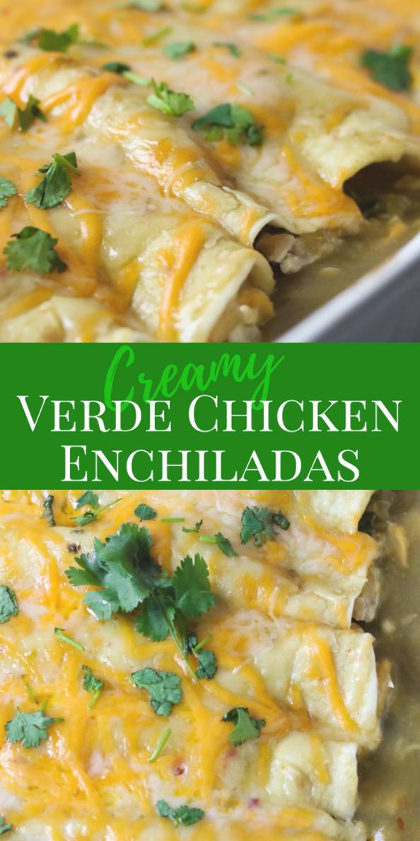 Verde Chicken Enchiladas Are Super Easy To Make For Dinner Full Of Chicken Onions Cilantro Black Beans In 2020 Easy Enchilada Recipe Mexican Dinner Easy Enchiladas