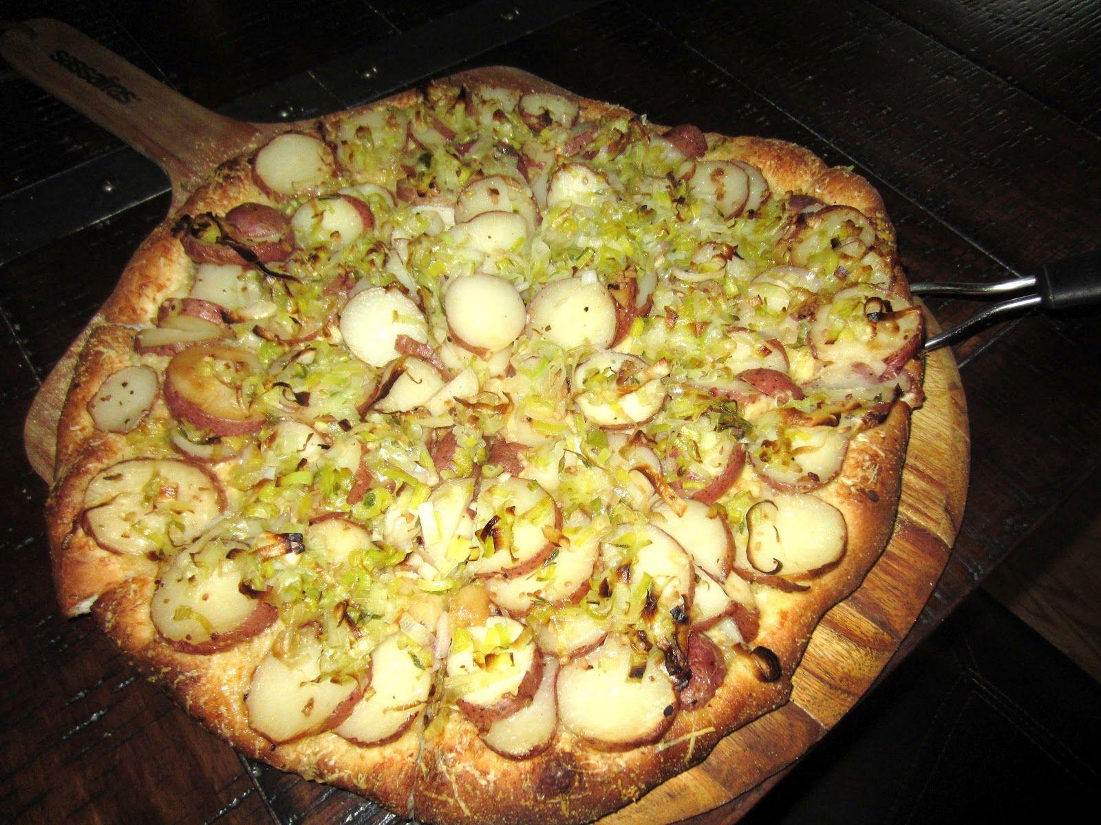 Potato Leek Pizza Recipe Food Recipes Food Network Recipes Healthy Dessert Recipes
