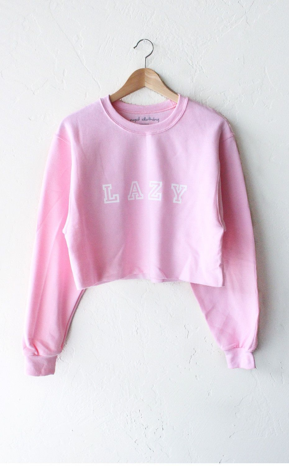 Lazy Oversized Cropped Sweatshirt - Pink   Pink brand, Lazy and Cozy