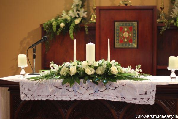 Pin By Wedding Flowers And Reception On Weddings Altar Flowers Church Wedding Decorations Altar Flowers Wedding
