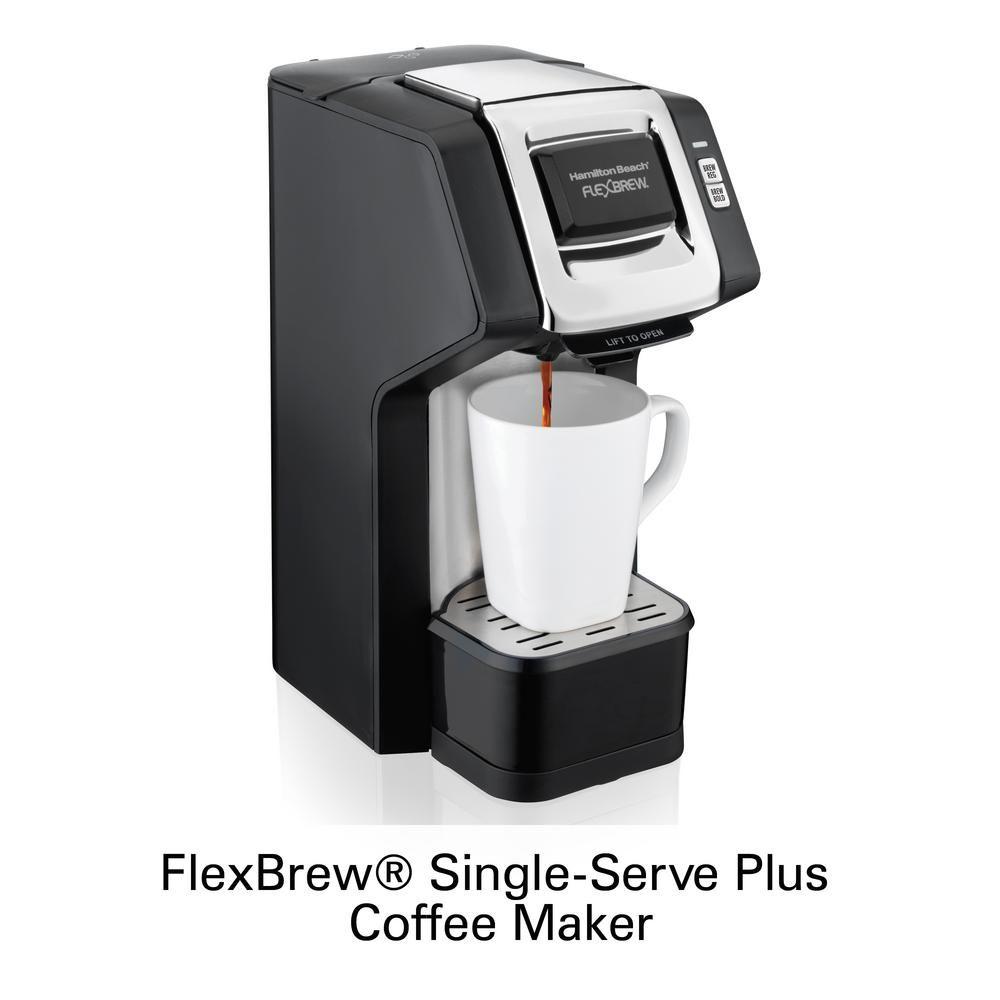 Hamilton Beach Flexbrew Black Single Serve Plus Coffee Maker 49979 In 2020 Single Serve Coffee Makers Coffee Maker Single Serve Coffee