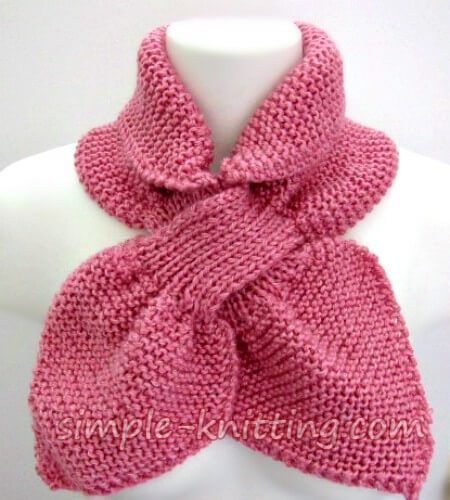 Photo of The ascot scarf pattern is a smaller version of a keyhole scarf and it makes a p… – Knitted Scarf 3