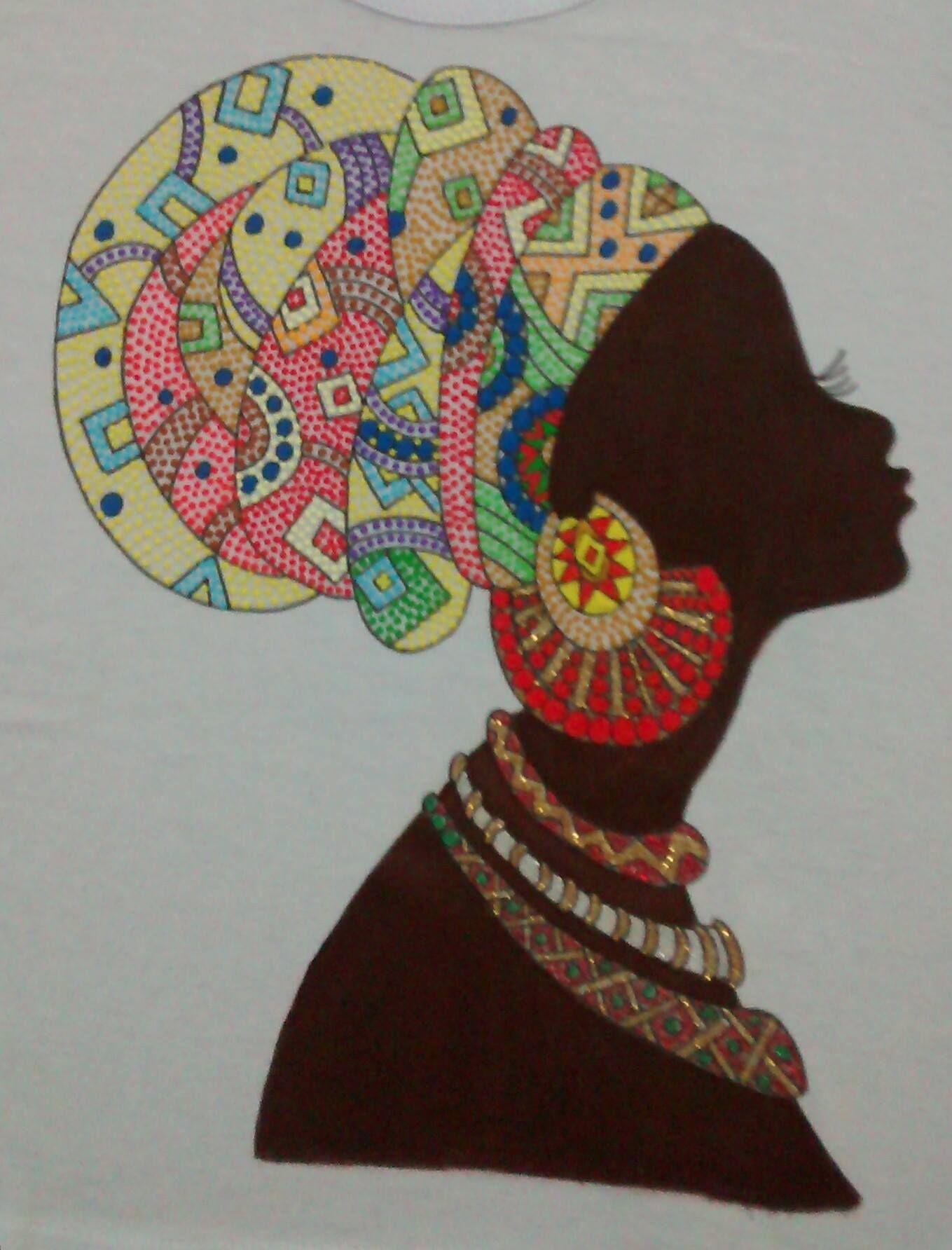 Desenhos de mulheres negras para pintura artesanato - Telas para sombra ...