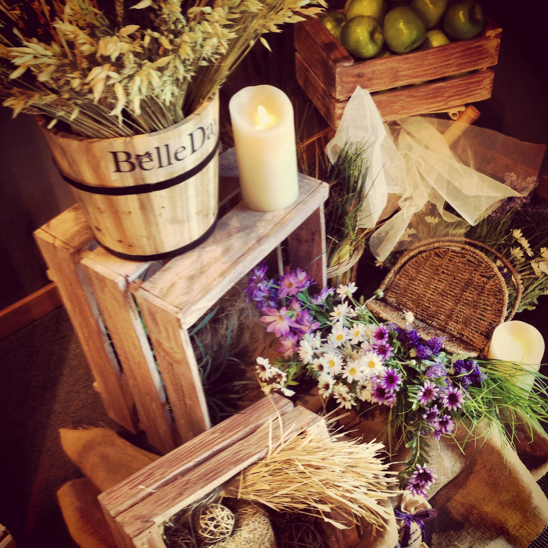 Farm Wedding Decor With Wooden Crates