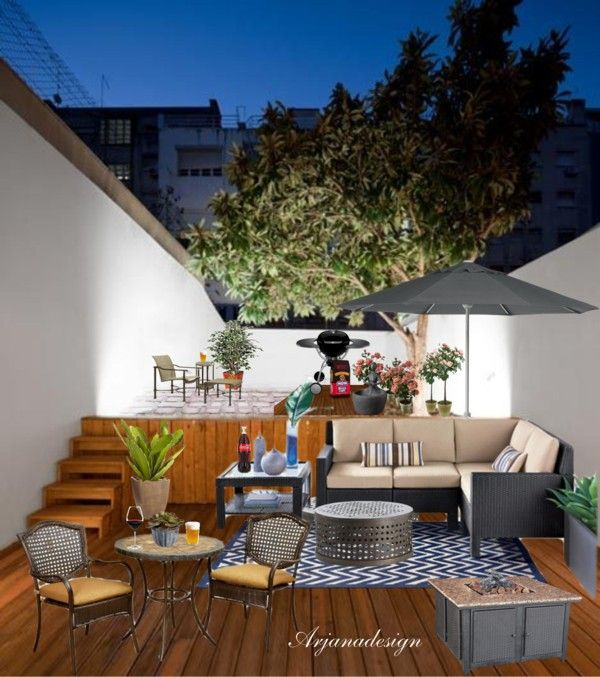 """""""DIY Condo Patio Project"""" By Arjanadesign Liked On"""