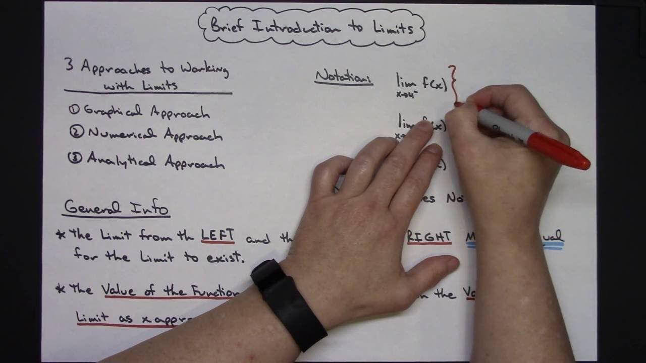 Brief introduction to limits algebra lessons calculus