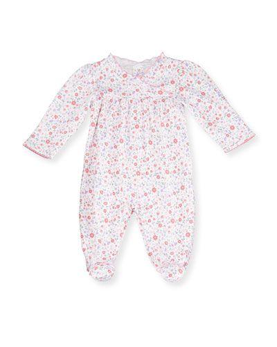 9d612403f84f K0P5J Kissy Kissy Fall Blossoms Pima Footie Pajamas
