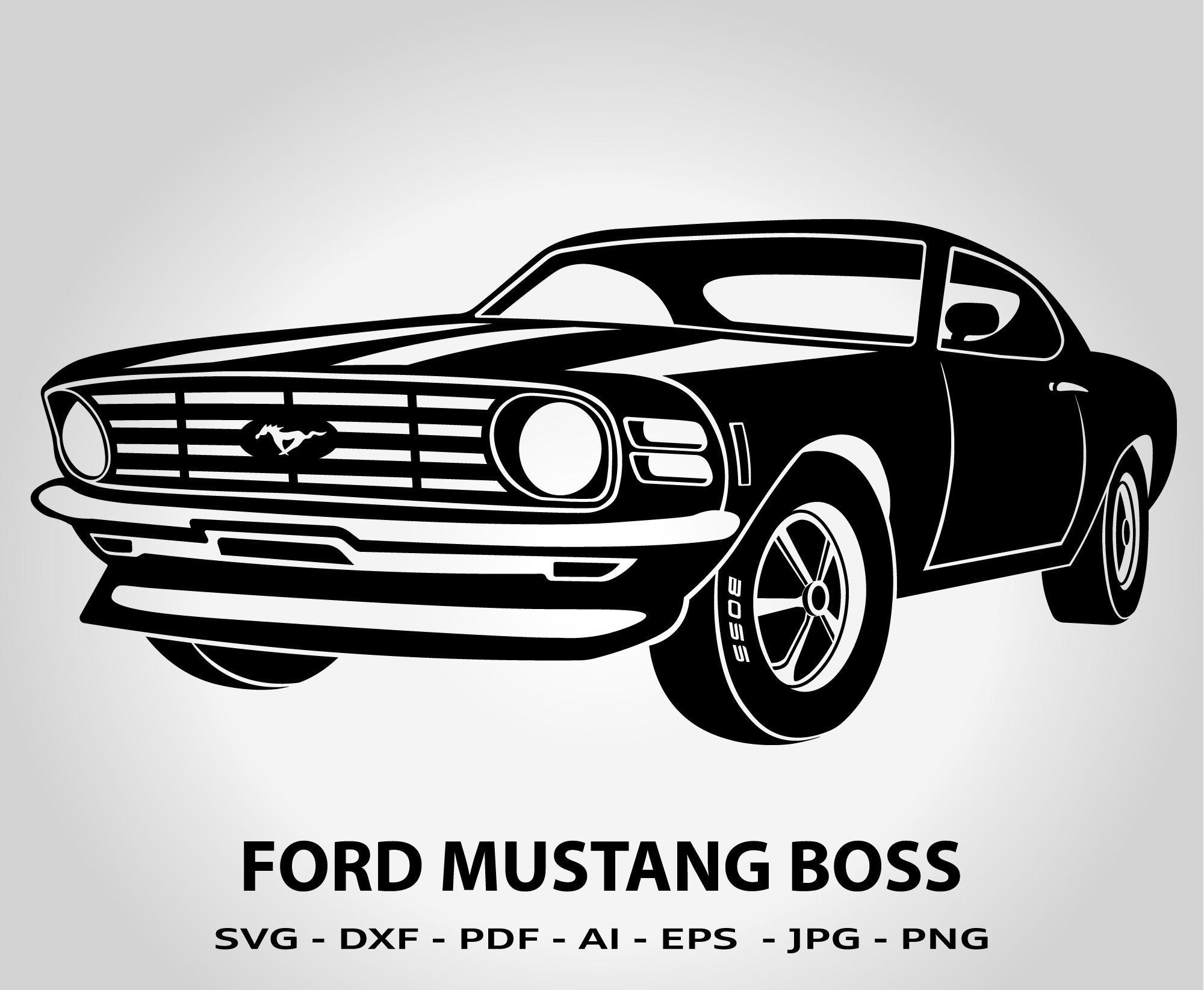 Ford Mustang Boss 1970 Silhouette Muscle Car Antique Old Etsy Mustang Car Silhouette Ford Mustang Boss