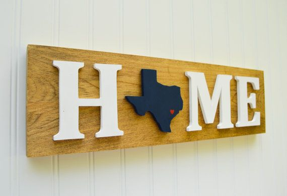 Houston Texans State Heart Home Sign Handcrafted by StateYourTeam ...