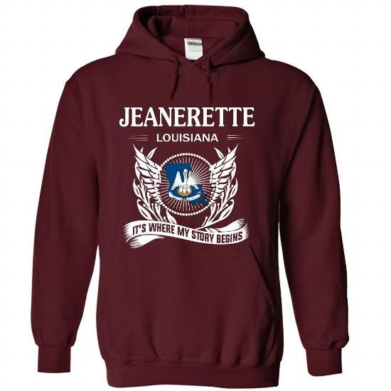 JEANERETTE- Its where my story begins! - #gift for girls #gift exchange. SECURE CHECKOUT => https://www.sunfrog.com/No-Category/JEANERETTE-Its-where-my-story-begins-2920-Maroon-Hoodie.html?68278