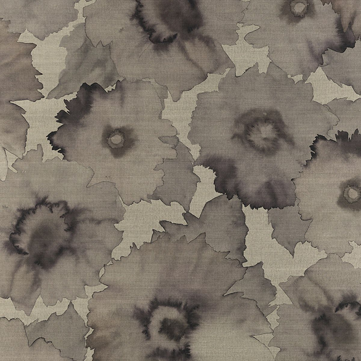 Bloom Wallcovering in Sepia, Small Flower mural, Floral