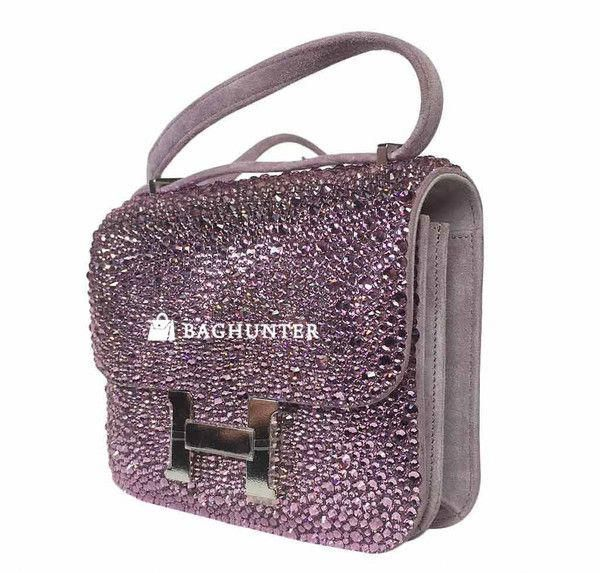 c05ff1038622 This One-of-a-Kind Authentic Hermes Constance Mini Custom Made with Swarovski  crystals is Divine! Only one lucky person in the world will be able to own  ...