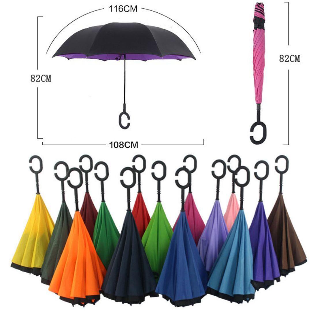 Antivento Reverse Pieghevole A Doppio Strato Invertito Ombrello Auto Basamento ombrello pioggia/sole donne/uomini di alta qualità 2016 Bambino durevole