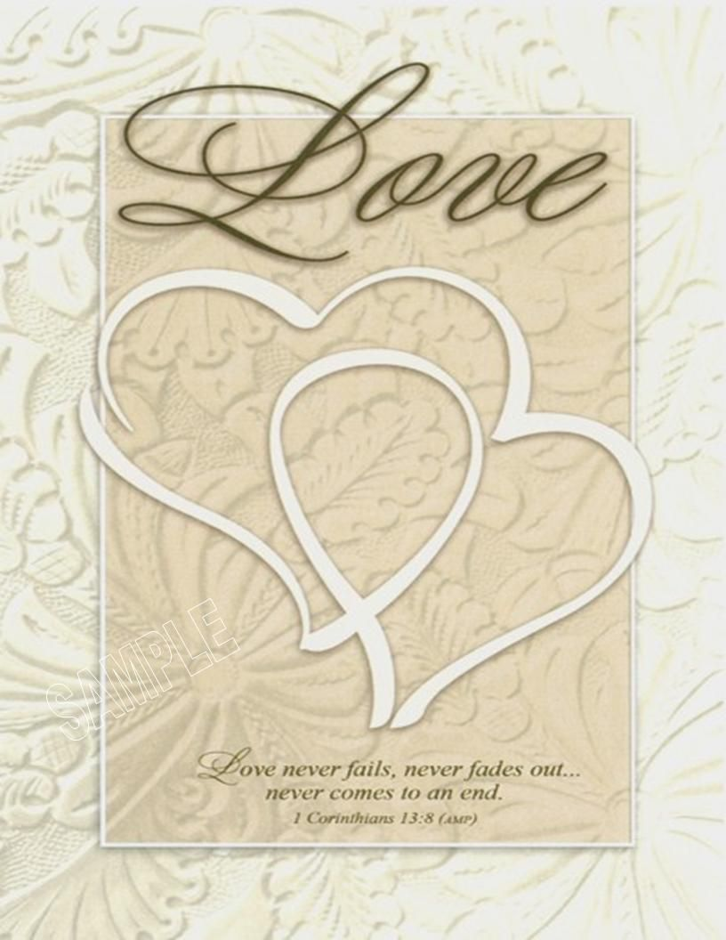 Wedding Program Paper Double Hearts On The Cover