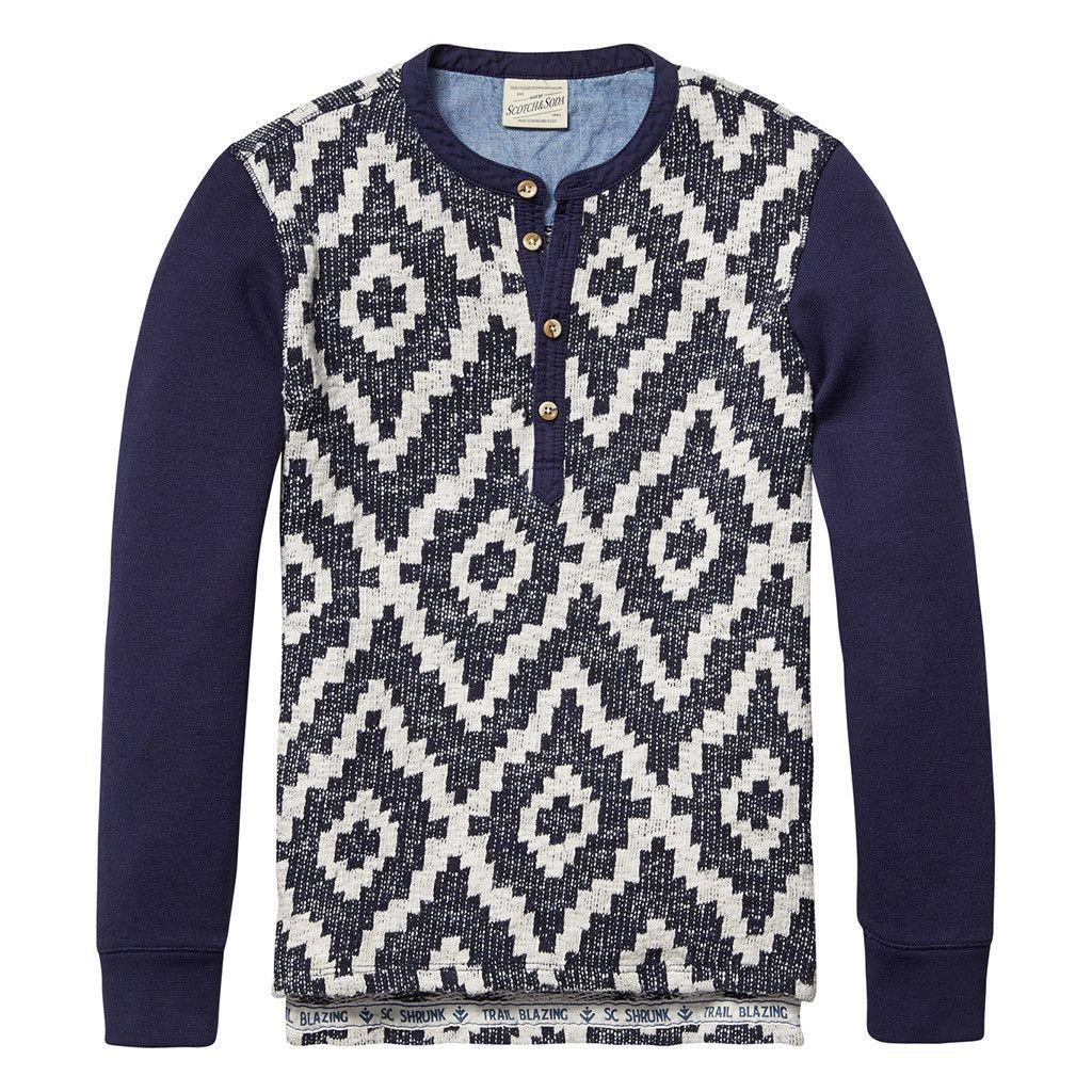 Jacquard Grandad Sweater