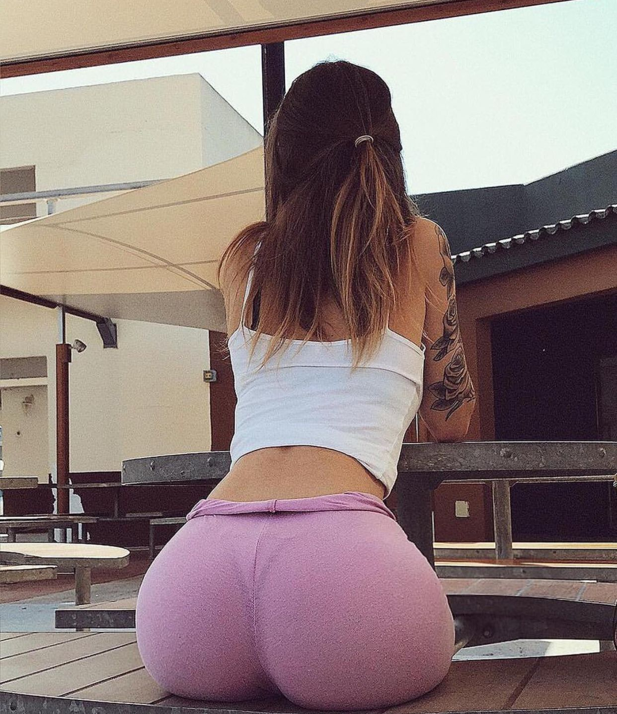 Fine ass in yoga pants