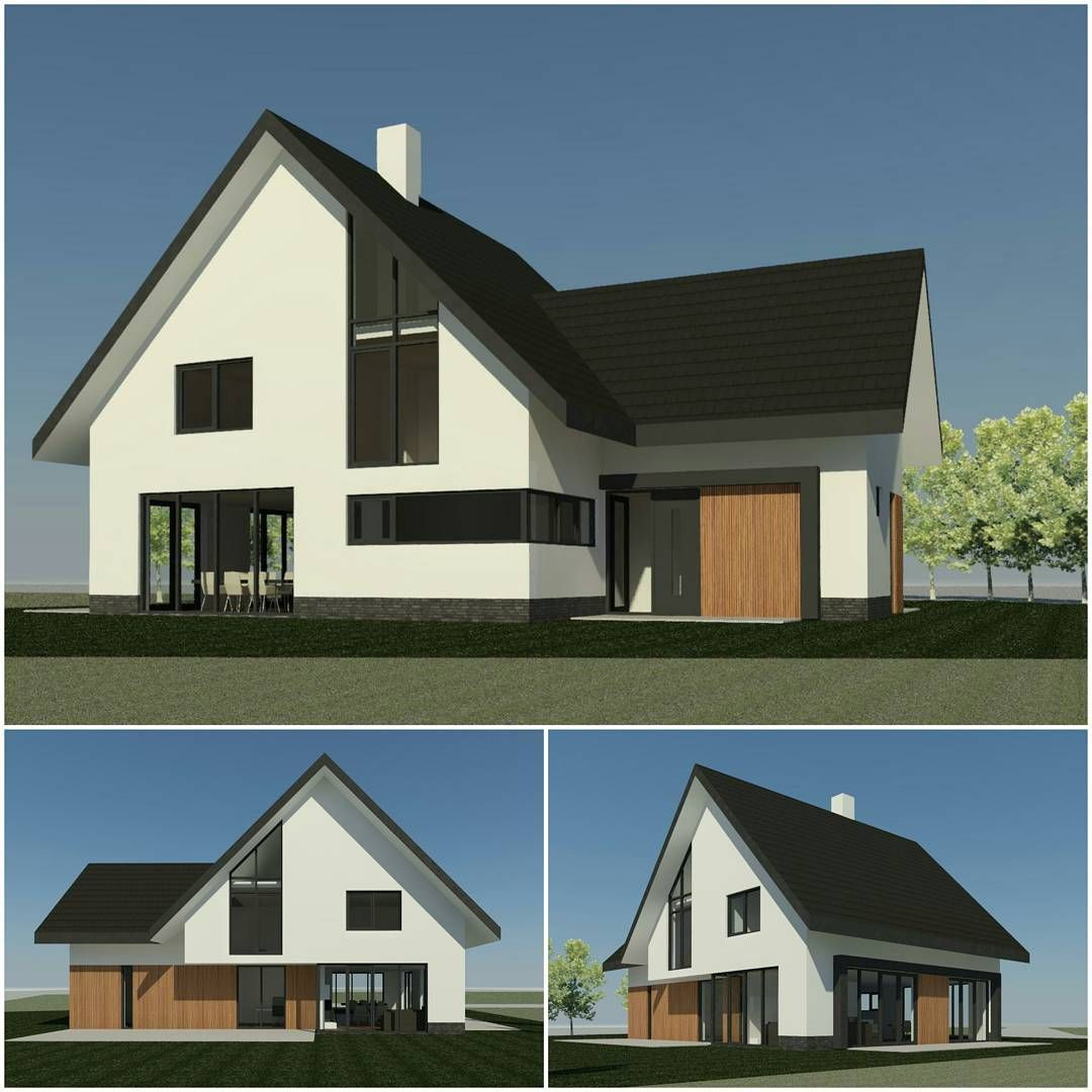 Nieuw opdracht een nieuw te bouwen vrijstaande woning in for Huizen architectuur