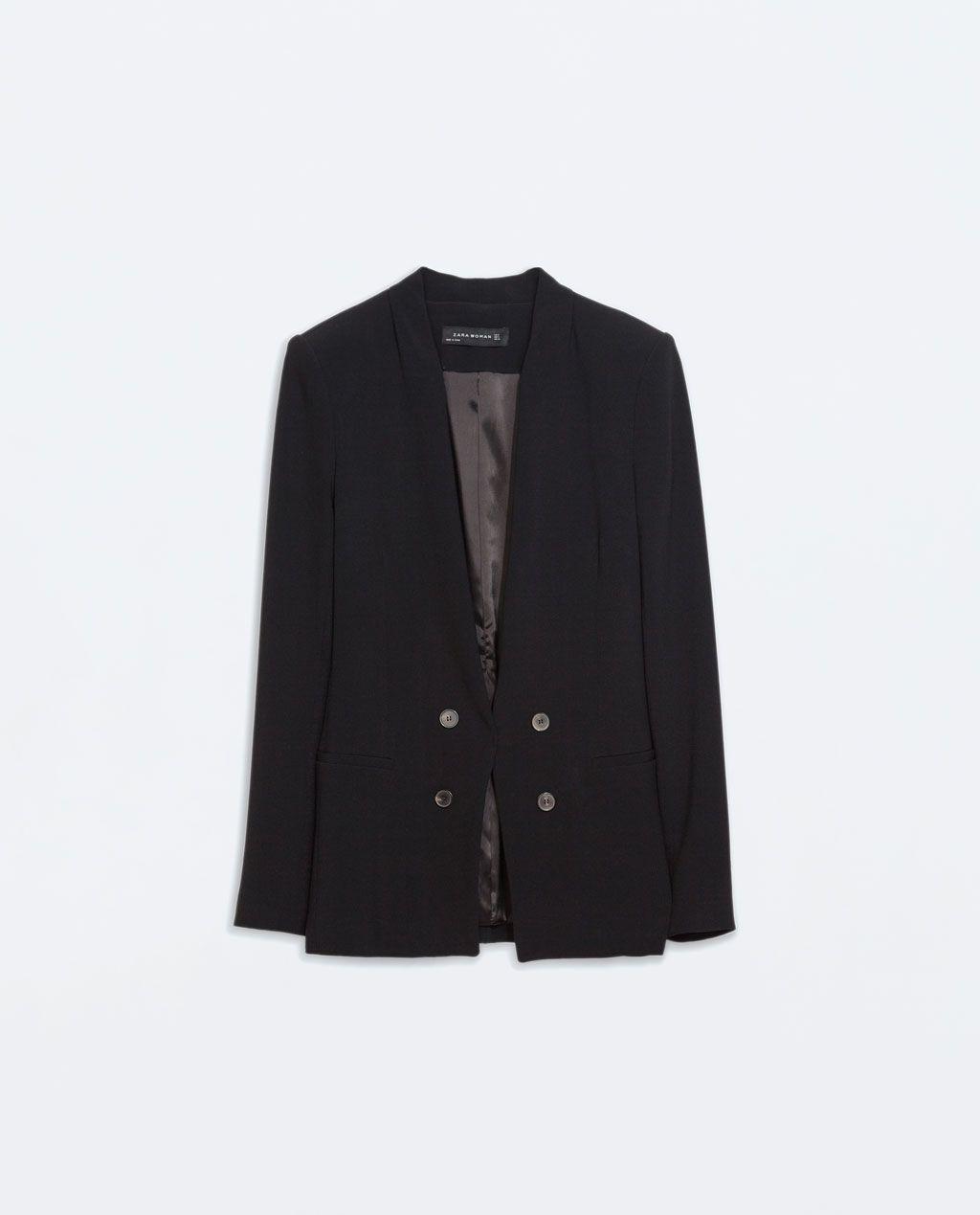 zwarte tricot blazer