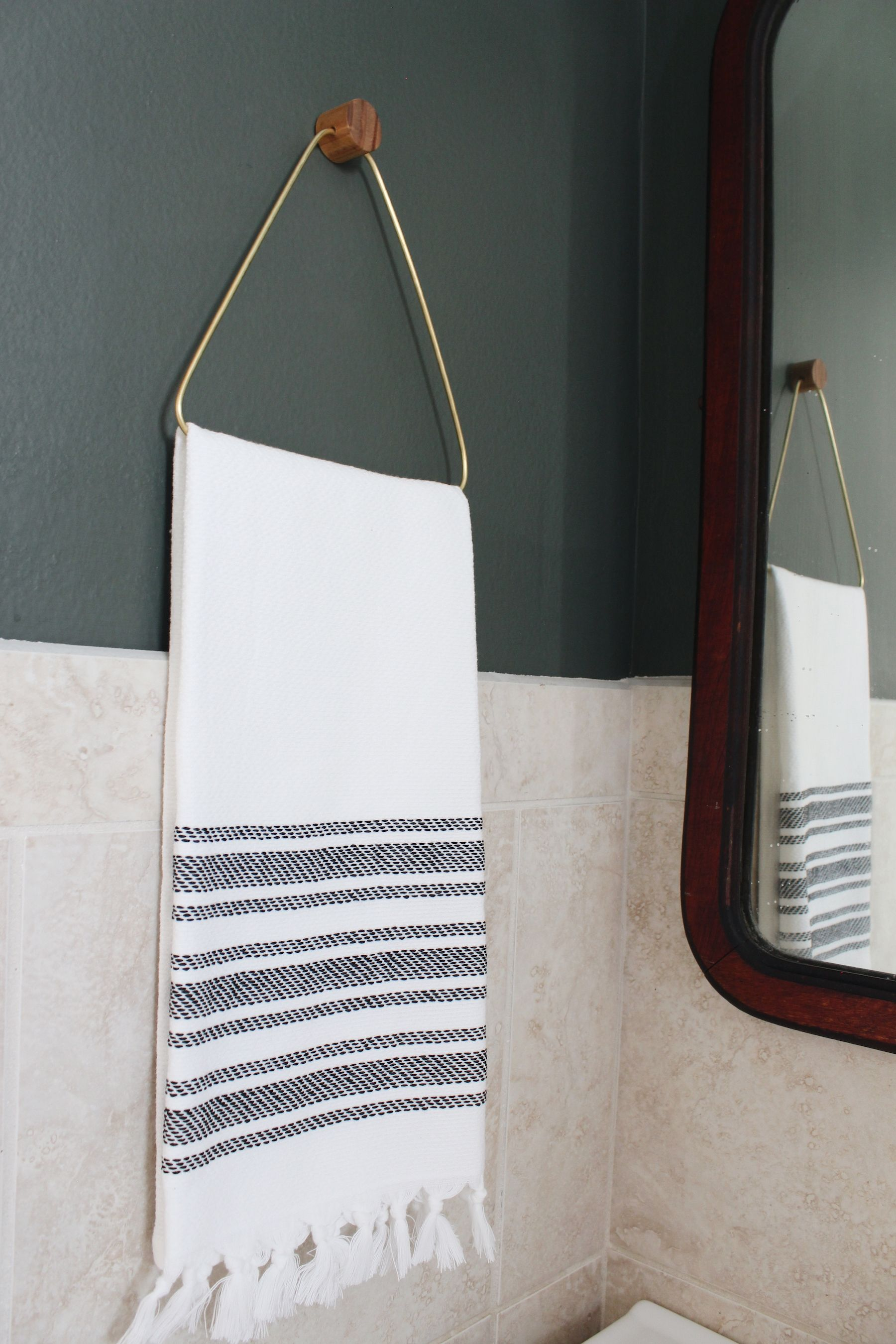 Diy Brass Hand Towel Holder Turning It Home With Images Hand