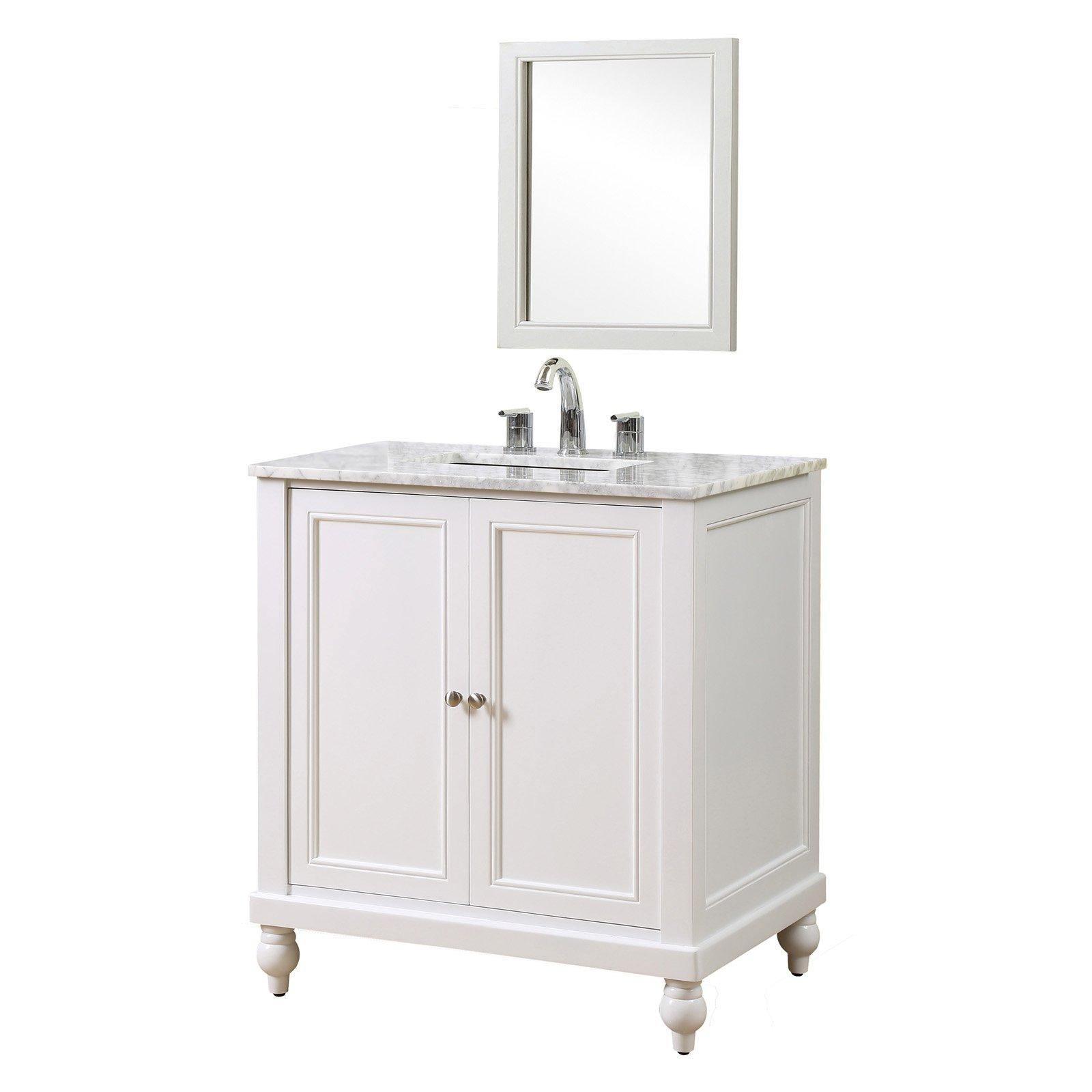 J And J International Classic 32 In Single Bathroom Vanity Black