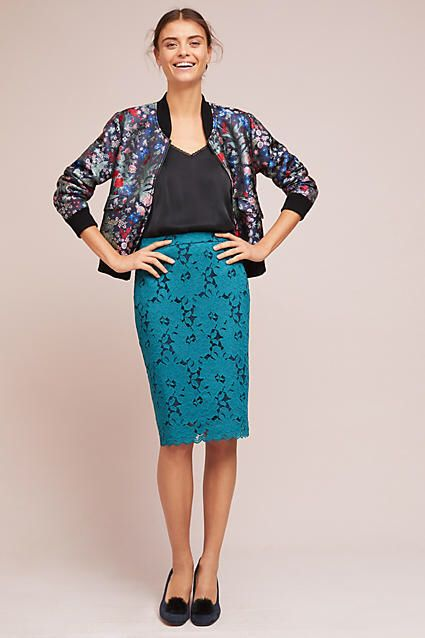 6d13ac1525b3 Maeve Anisa Lace Pencil Skirt #ad | Beautiful places | Skirts, High ...