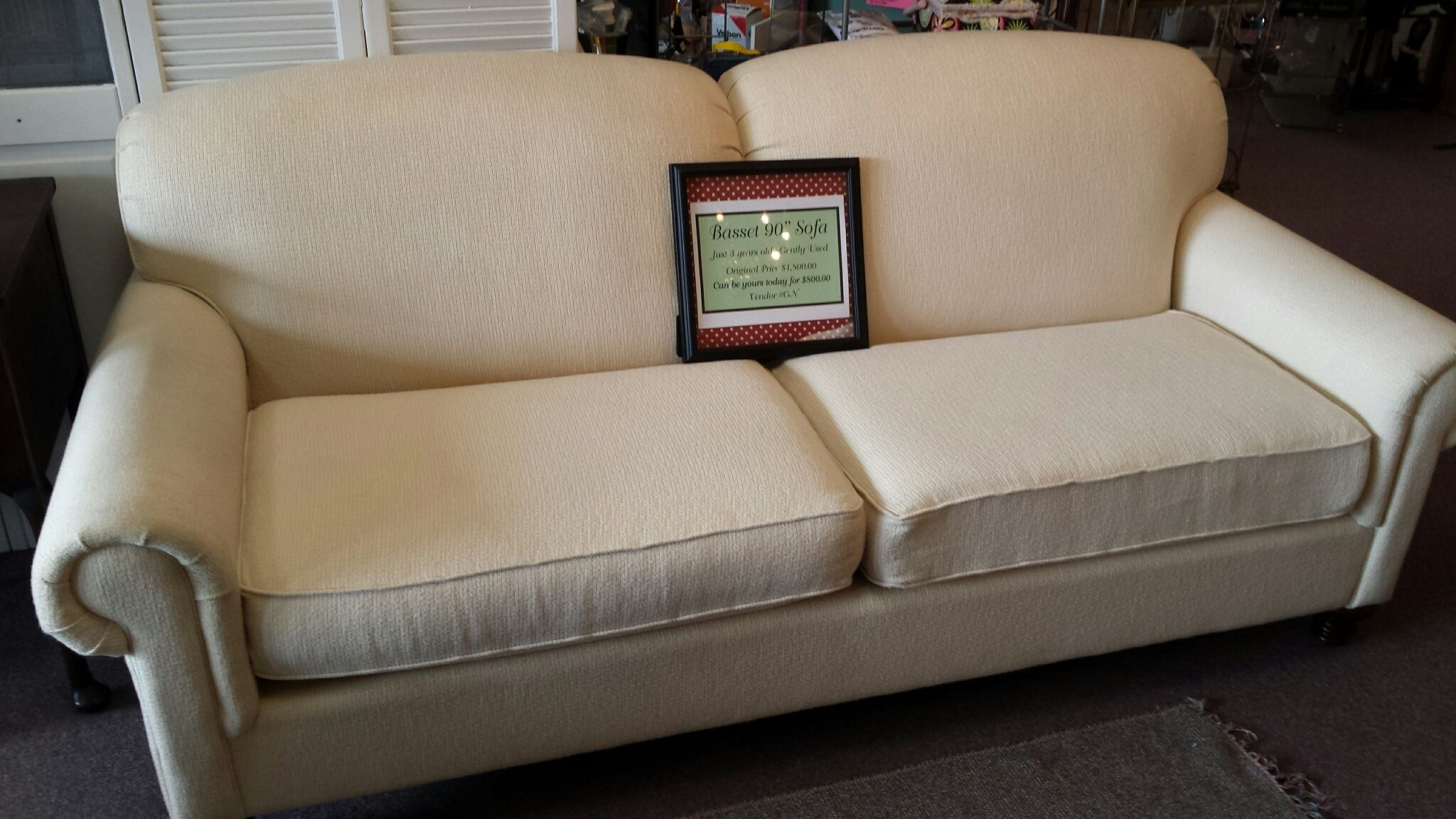 Surprising Basset Couch Originally 1 800 Now Only 800 Excellent Onthecornerstone Fun Painted Chair Ideas Images Onthecornerstoneorg