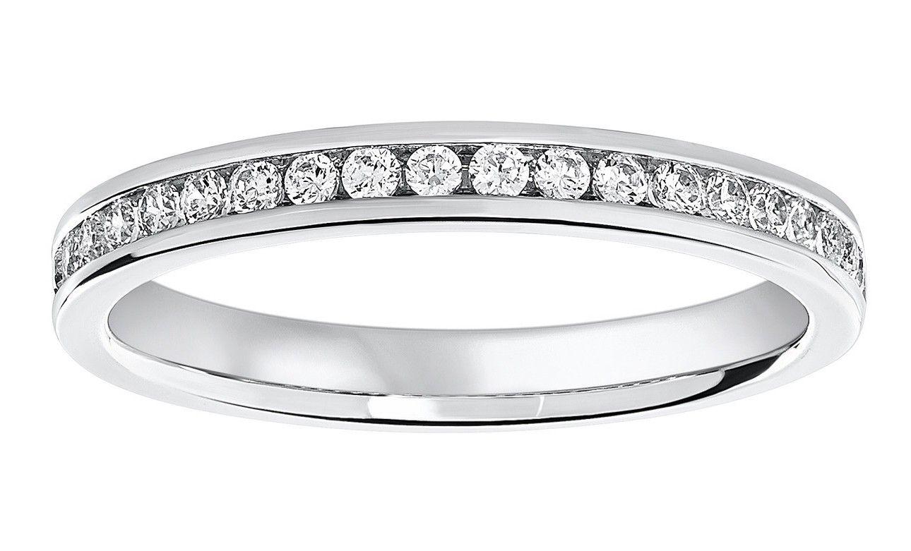 Platinum 0 25 Carat Brilliant Cut Half Eternity Ring Jewels Half