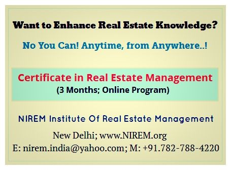 Join Certificate Courses in Real Estate Management (3 Months ...