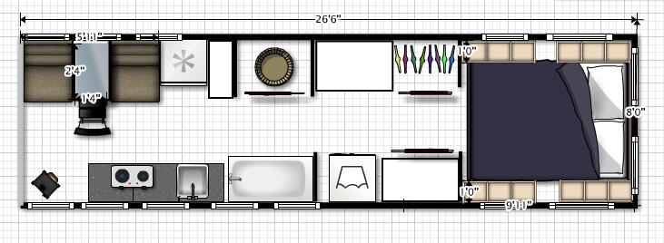 Conversion Encyclopedia Floor Plans Page Skoolie Casas Com Quartos Plantas