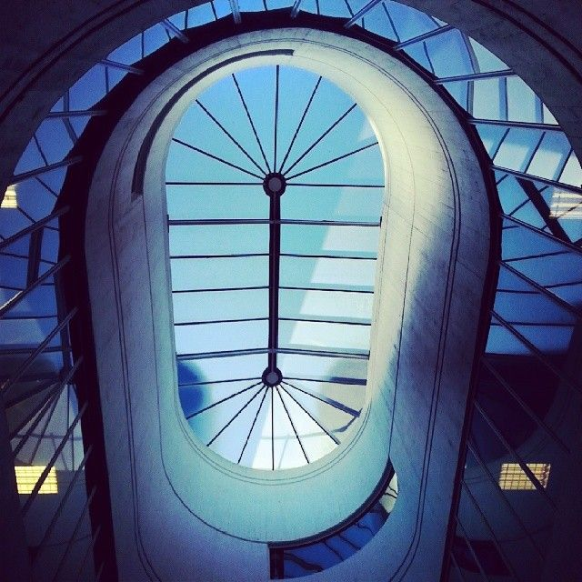 "@nikki_haq's photo: ""#attium #skylight #blue #brunel #brunellibrary #relaxing #light"""