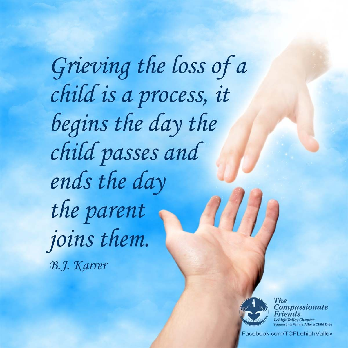 Grief Bereavement Quote From Tcf Lehigh Valley Facebook Page
