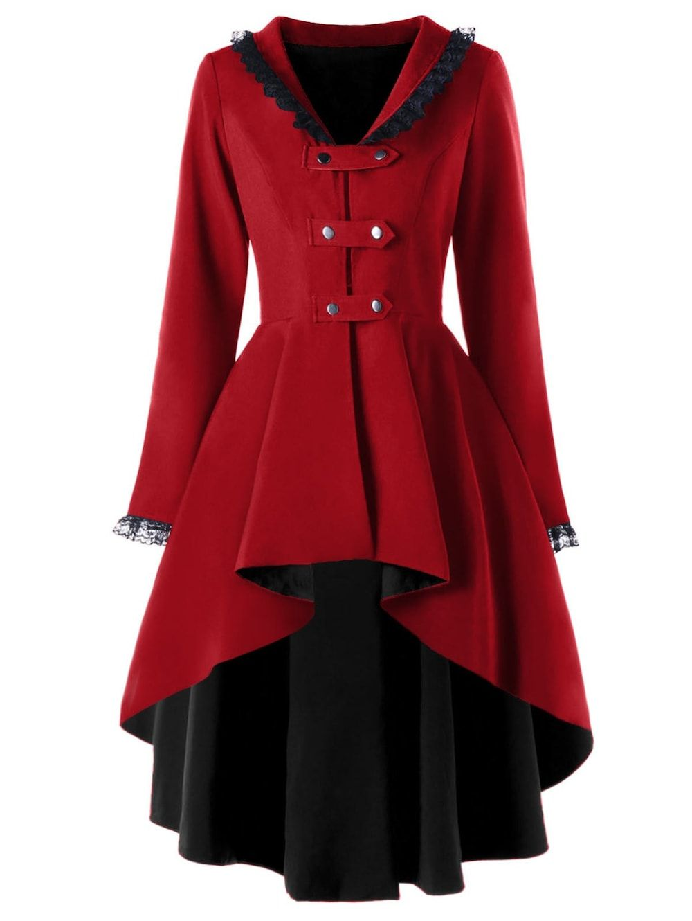 7c761be251493 Competitive Wine Red L Coats online