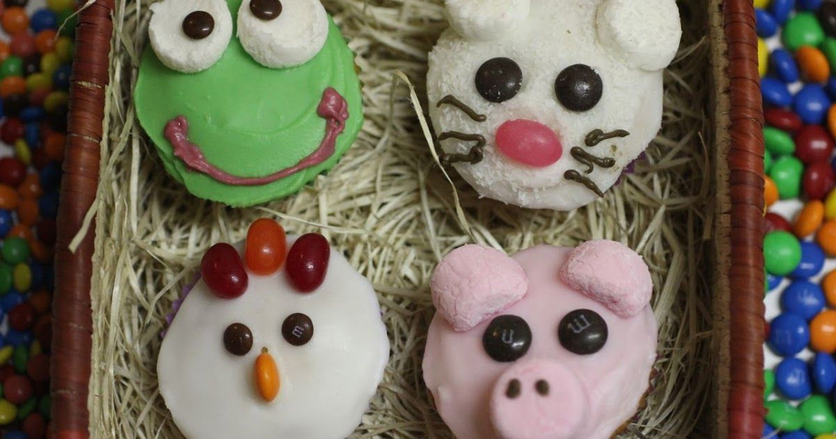 Animal cupcakes: chicks, pigs, frogs and mice | Egg ...
