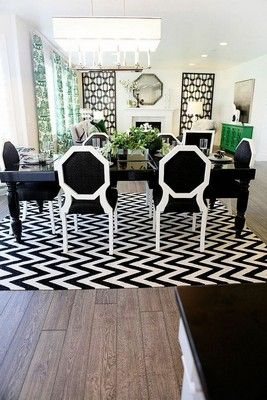 10 Modern Black And White Dining Room, Black And White Dining Room Set